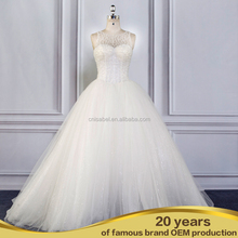 Amazing Strapless Beaded Waistband Queen Heavy Lace Wedding Gown