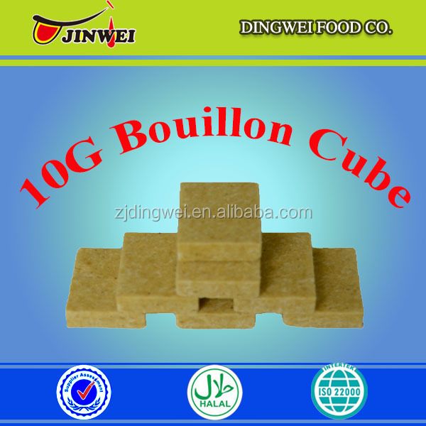Halal food Chicken bouillon cube ingredients for delicious soup