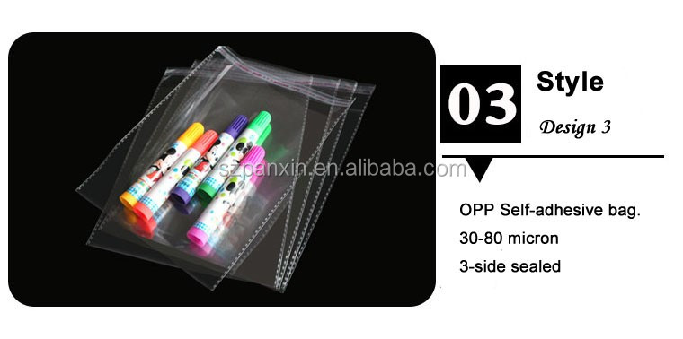 High Quality Plastic Transparent Clear Poly Bags With Self-adhesive
