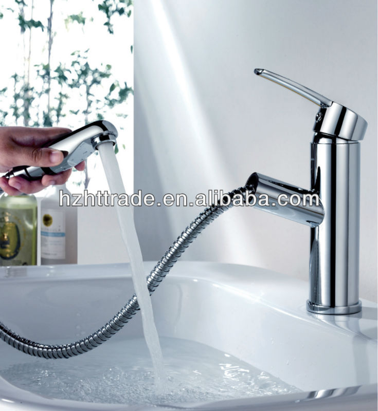 pull out spray face basin faucet wash hair basin faucet