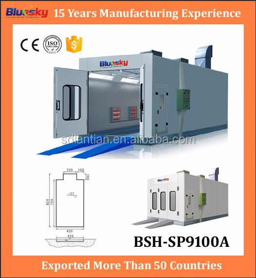 China supplier car painting booth/car paint box/electric heating spray booth