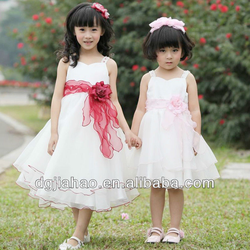 2013 breathable white flouncing handmade flowers spaghetti strap exotic prom dresses