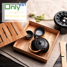 Wholesale price high quality bamboo plate fruit candy dishes tea tray