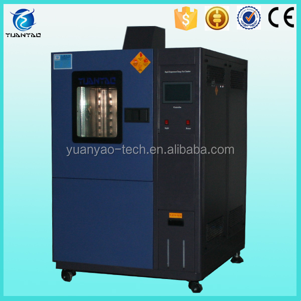 Thermal humidity cycling rapid heating cooling chamber