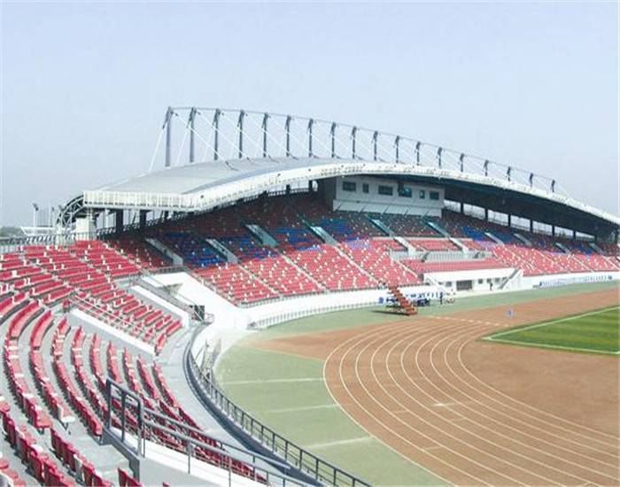 galvanized cheap curved roof stadium