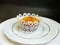 Customized Mini laser cut Filigree cupcake wrappers