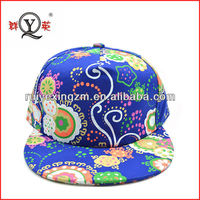 Wholesale china new products era flower snapback cap and hat