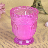 Classic Thick and Strong Art Glass Cup Home Decor Candle