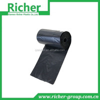 Black HDPE roll plastic flat bag 50pcs/roll