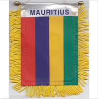 Mauritius Flag Hanging Car Pennant for Car Window or Rearview Mirror