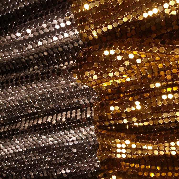 Free Sample Silver Color Metallic Shiny Curtain for Indoor