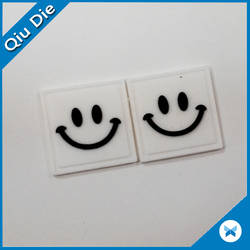 White Square Smiley PVC Plastic Patch /Repair Patch