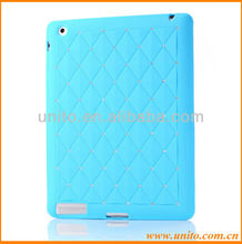 Luxury Bling Diamond Silicone Case For iPad 3 2