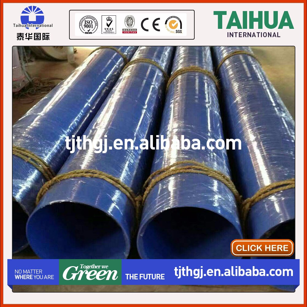 Large diameter spiral welded steel oil gas tubing 3 layer PE casing pipe with cheap price