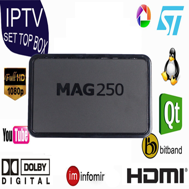 2017 IPTV MAG 250 Best Europe IPTV Set top tv box with 1 year subscription Europe account 680 French /UK/DE/IT channel