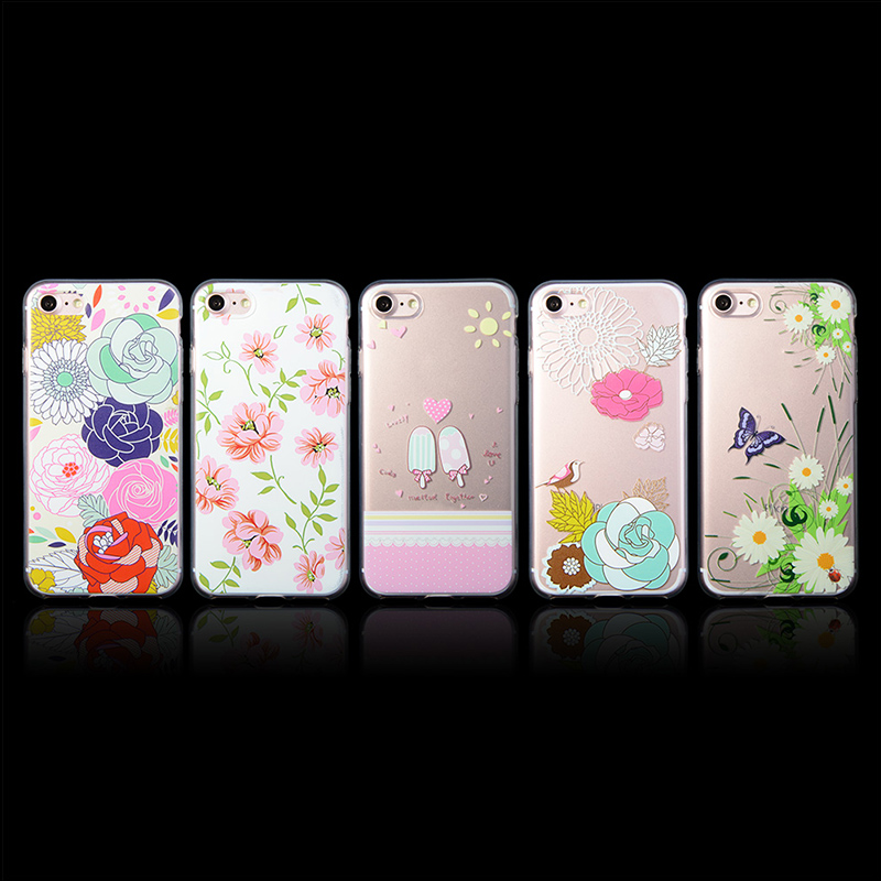3D custom UV printing soft tpu shell housing phone case for iPhone 7 6 case phone cover for samsung s7 s6 j7 gel case