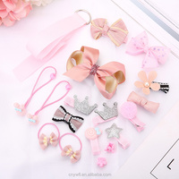 Fashion kids hairpin hair accessory gift sets classical princess hair accessory hot selling baby hair accessories