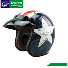 Open Face Motorcycle Helmet With Visor For Harley