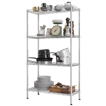 XM_202 steel pipe restaurant storage shelving rack in chrome racking