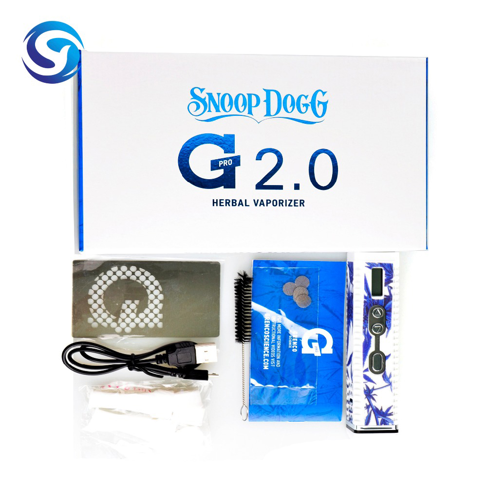 Portable New Product Dry Herb Snoop Dog g 2.0 Vaporizer Temperature Control Herbal Pen