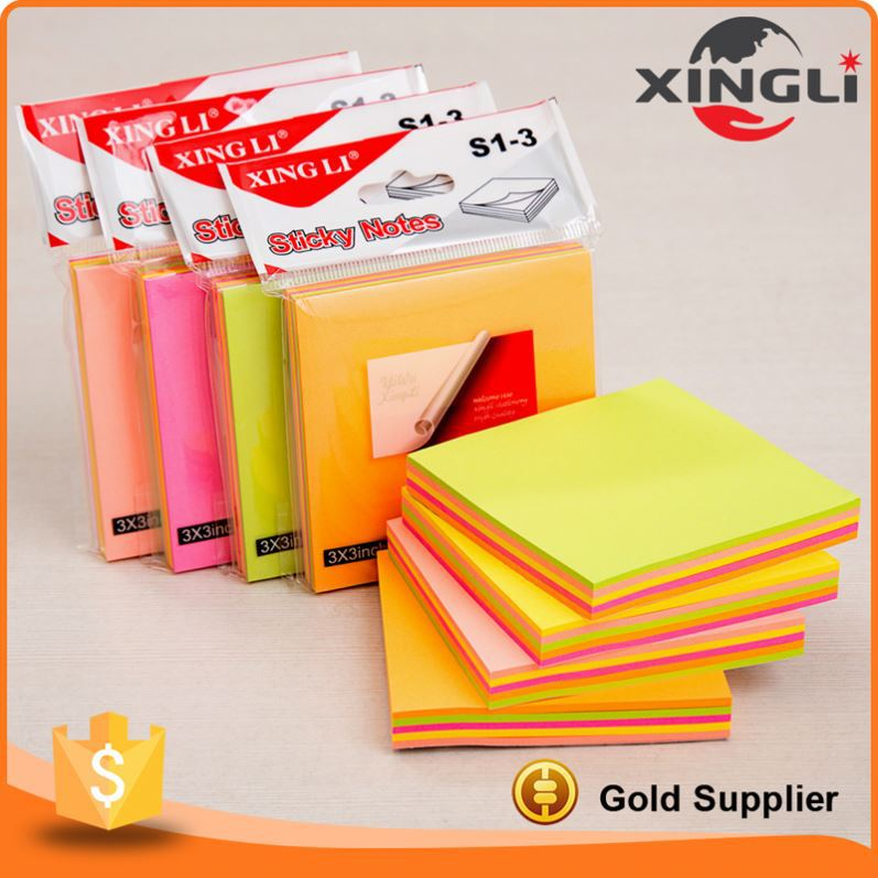 Promotional Factory Price fluorescence color sticky notepads