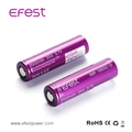 Purple heat shrink tube battery EFest IMR18650 2500mah 35A purple lithium ion battery 18650