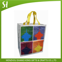 pp woven shopping bag with zipper pp woven bag with handle