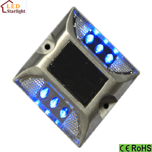 White blue green amber red flashing ip68 led solar road marker price
