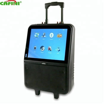2018 New design 15 inch Big Battery Powered Mobile Trolley Video Speaker With LCD Screen, Remote Control