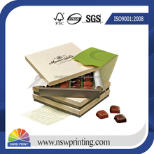 Professional High Quality fancy paper chocolate gift packaging box