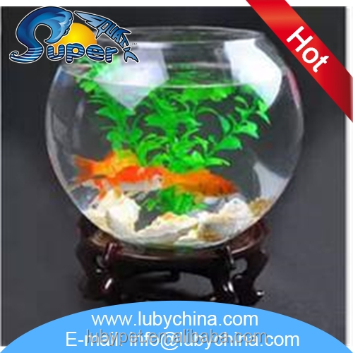 Multifunctional large glass fish bowl with wholesale price for Large glass fish bowl