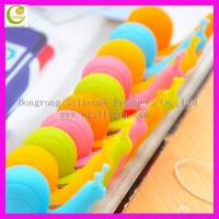 New Funny Snail Shape Silicone Clip Cup Personalized Silicone Tea Bag Holder