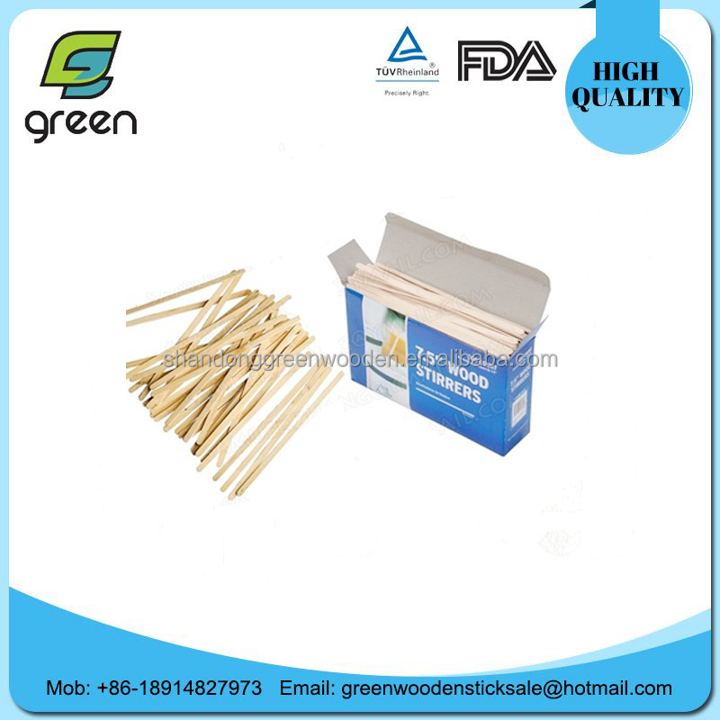 Top quality LFGB royal wood coffee stirrers for starbucks coffee
