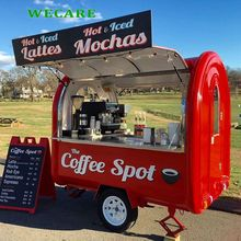 Multi-function coffee carts food trailer mobile