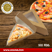 Paper pizza slice box with customer printing,pizza slice box,triangle food container