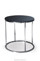 2016 good quality stainless steel glass cocktail table