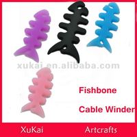 Fishbone silicone Earphone Cable Winder cable tidy
