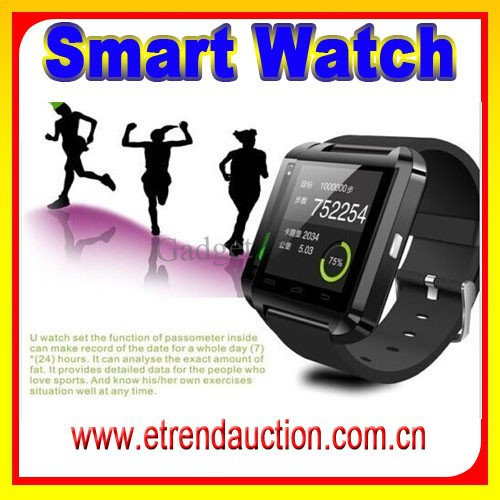 2015 New Products Health Bluetooth Pedometer OEM 1.44 Inch Capacitive Touch Bluetooth Anti Lost Smart Watch U8 Support Danish