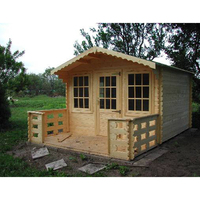 Economic New type prefabricated hut Summer Garden House Office Wooden Log Cabin shed for sale