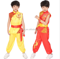 Latest 2015 fashion design sleeveless +long pants Indian style boys dance costumes children hip hop stage costume