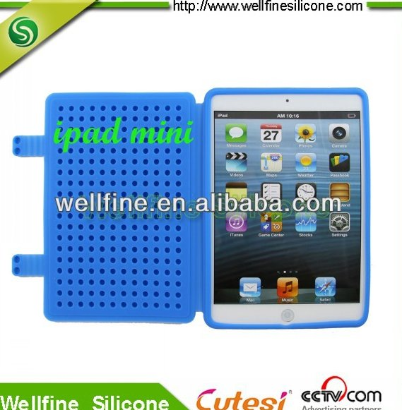 Silicone protective case for mini Pad with block design