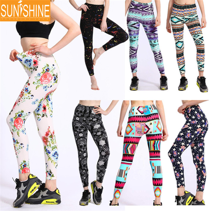 Low Price Good Quality Brushed Fabric New Mix Leggings Wholesale