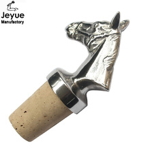 Horse animal cork bottle stopper bottle wine stopper