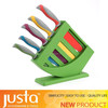 PP multicolored handle stainless steel fruit knife sets with knife holder