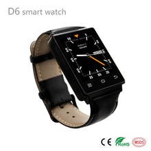 New Arrival High Quality Core Android 5.1 Wear WiFi 3G D6 Smart Watch For FM Radio