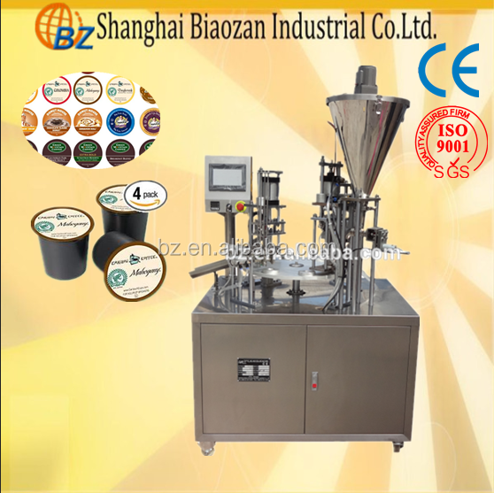 Best price plastic cup coffee filler and sealer /k cup filling machine