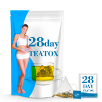 Chinese Wholesale 28 Day Detox Easy Slim Skinny Tea Dropship Herbal Diet Bag Packaging Private Label Nature Slimming Detox Tea
