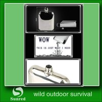 fashionable most popular lfgb stainless steel hip flask for men
