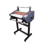Double sides fm-480 roll laminator (hot&cold) frame laminating machine