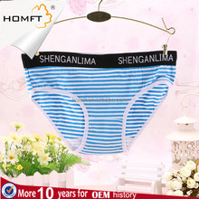 Girls' Classic Design Striped Cotton Hipster Brief Panties Ladies Undergarments